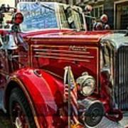 Old Mack Firetruck Art Print