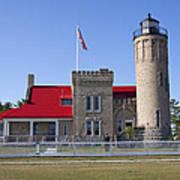 Old Mackinac Mi Lighthouse 19 Art Print