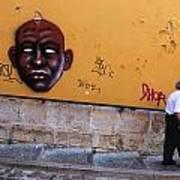 Old Man Graffiti Art Print
