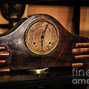 Old Mantelpiece Clock Art Print by Kaye Menner