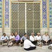 Old Men Socializing In Yazd Iran Art Print