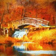 Old Mill Bridge Art Print