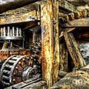 Old Mill Cogs Art Print
