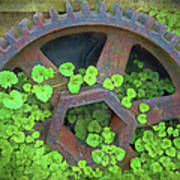 Old Mill Of Guiford Grinding Gear Art Print