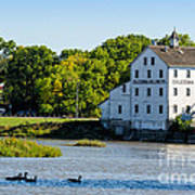 Old Mill On Grand River In Caledonia In Ontario Art Print