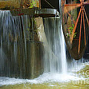 Old Mill Water Wheel Art Print