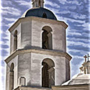 Old Mission San Luis Rey Tower - California Art Print