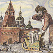 Old Moscow - Bubliki Art Print