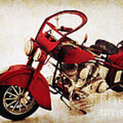 Old Motor-bike Print by Angela Doelling AD DESIGN Photo and PhotoArt
