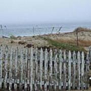 Old Nantucket Fence Art Print