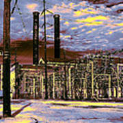 Old New Orleans Electric Plant Art Print