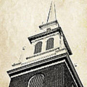 Old North Church In Boston Art Print