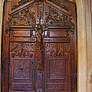 Old Ornamented Door Art Print