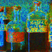 Old Pharmacy Bottles - 20130118 V1a Art Print by Wingsdomain Art and Photography