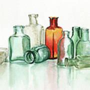 Old Pharmacys Glassware Art Print