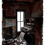 Old Piano Card Art Print