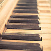 Old Piano Keys Art Print