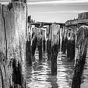 Old Pier In Provincetown Cape Cod Art Print