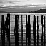 Old Pilings On Puget Sound - Tacoma - Washington - August 2013 Art Print