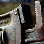 Old Pipe Wrench Art Print