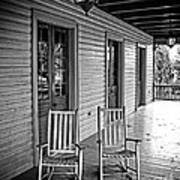 Old Porch Rockers Art Print