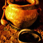 Old Pot And Ladle Art Print