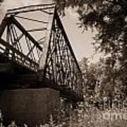Old Rail Bridge Art Print