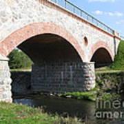Old Railway Bridge In Silute. Lithuania. Summer Art Print