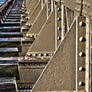 Old Railway Bridge In The Netherlands Art Print