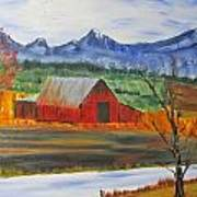 Old Red Barn Art Print