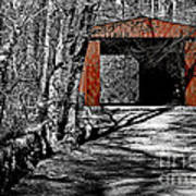 Old Red Bridge Art Print