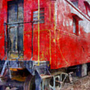 Old Red Caboose Art Print