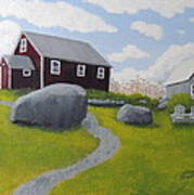 Old Red Schoolhouse Art Print