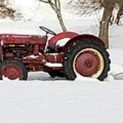 Old Red Tractor Art Print