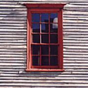 Old Red Window Art Print