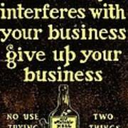 Old Reliable Whiskey Vintage Art Art Print