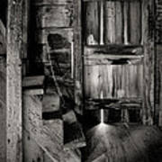 Old Room - Rustic - Inside The Windmill Art Print by Gary Heller