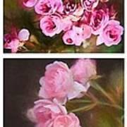 Old Roses Vertical Art Print