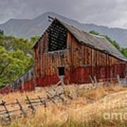 Old Rural Barn In Thunderstorm - Utah Art Print