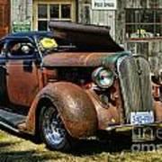 Old Rusty Car At The Old Shop  Ca5083a-14 Art Print