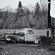 Old Rusty Gmc Pickup Art Print