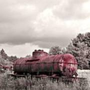 Old Rusty Tanker  2 Art Print