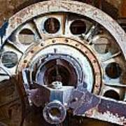 Old Rusty Vintage Industrial Machinery Art Print