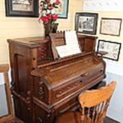 Old Sacramento California Schoolhouse Piano 5d25783 Art Print by Wingsdomain Art and Photography