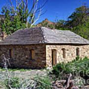Old Sandstone Brick Farm House Nine Mile Canyon - Utah Art Print