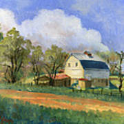 Old Saunders Barn Art Print by Jeff Brimley