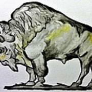Old School Buffalo Art Print