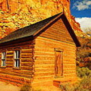 Old Schoolhouse Near Capital Reef Utah Print by Jeff Swan