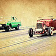 Old Scool Racing Art Print