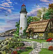 Old Sea Cottage Art Print